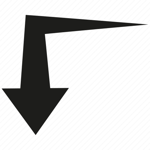 arrow, cursor, curve, direction icon