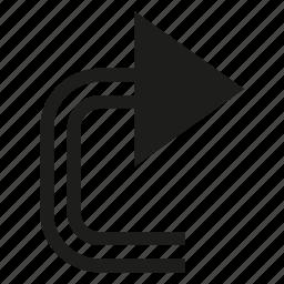 arrow, cursor, direction icon