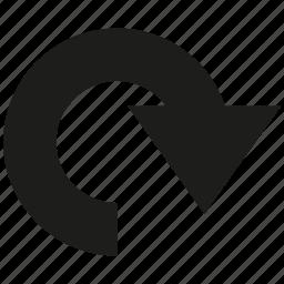 arrow, cursor, direction, reload icon