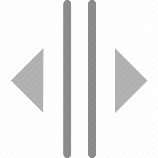 arrow, split icon