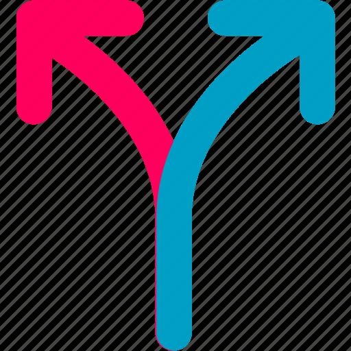 arrow, direction, way icon