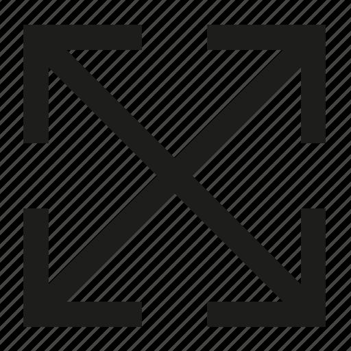 arrow, corner, four, four directions icon