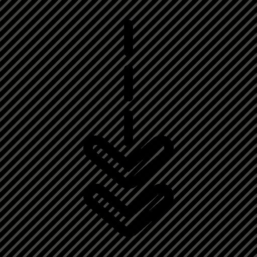 arrow, chevron, down direction icon