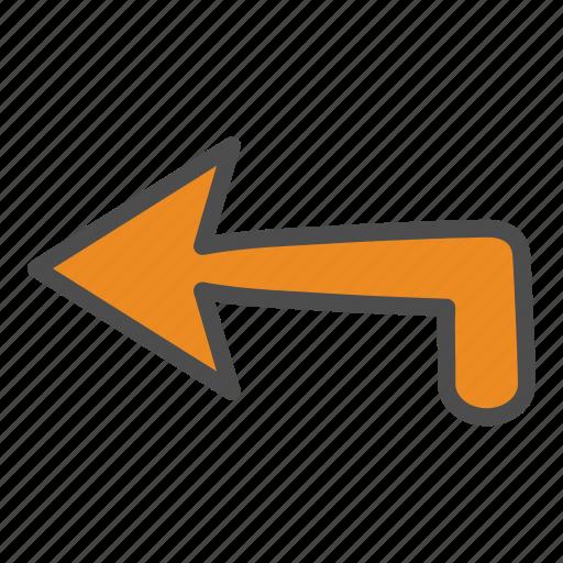 arrow, arrows, back, left icon