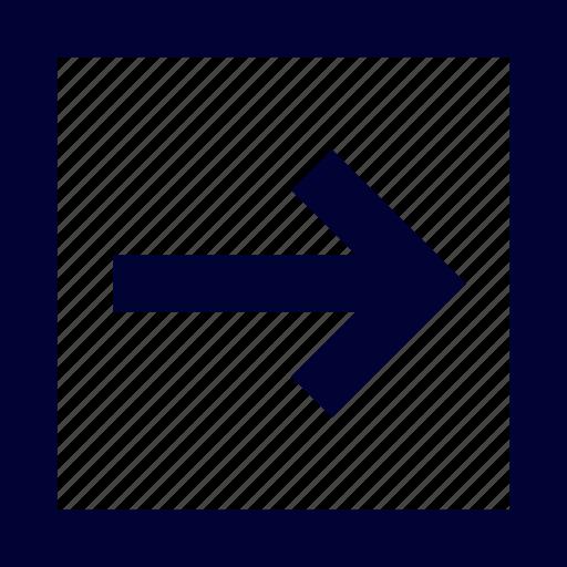 arrow, right, square, ui, user interface icon