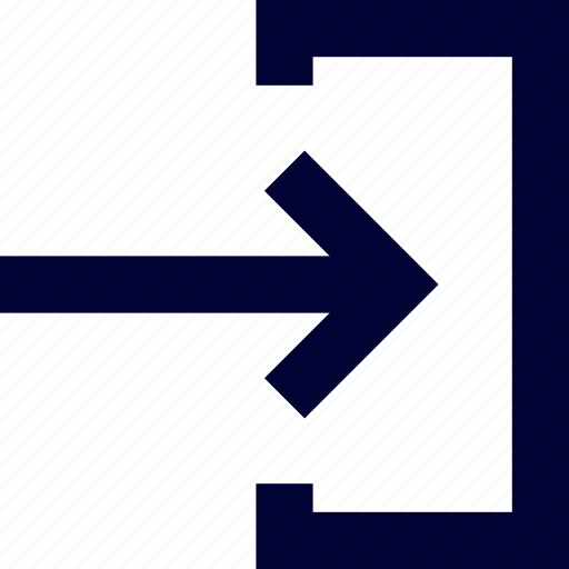 arrow, inside, right, square, ui, user interface icon