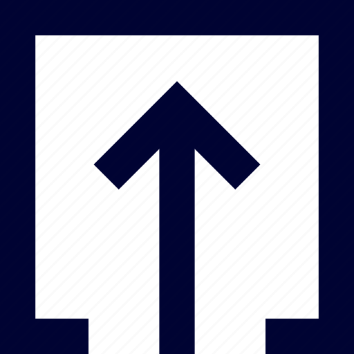 arrow, inside, square, ui, up, user interface icon