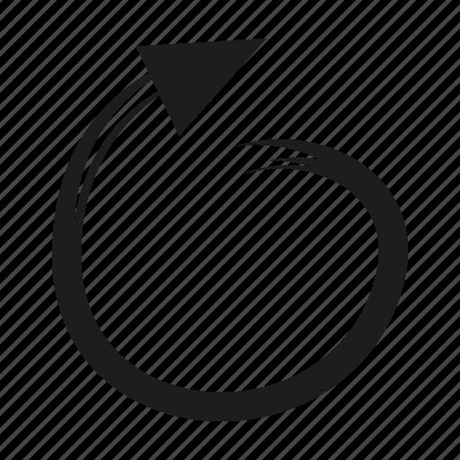 arrow, brush, curve, diretion, sketch, way icon