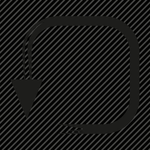 arrow, brush, diretion, loading, reload, sketch, way icon