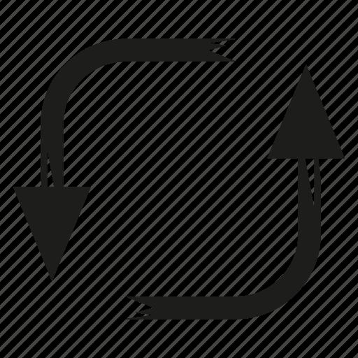 arrow, brush, diretion, reload, rotate, sketch, way icon