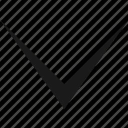arrow, bottom, cursor, pointer icon