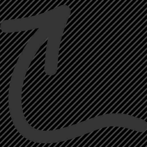 arrow, cursor, pointer, up icon