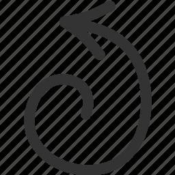 arrow, cursor, left, pointer icon