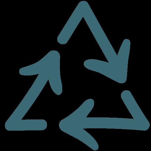 arrow, bin, doodle, garbage, recycle icon