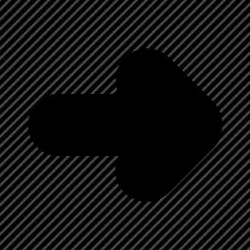 arrow, direction, next, right icon