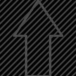 arrow, location, navigation, top icon
