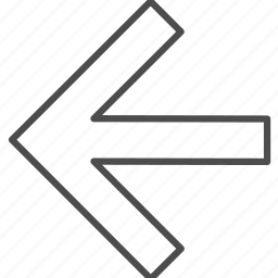 arrow, left, navigation, pointer icon