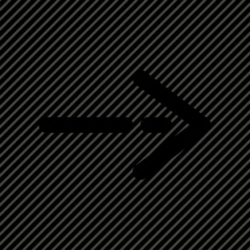 arrow, right, right arrow, right line icon