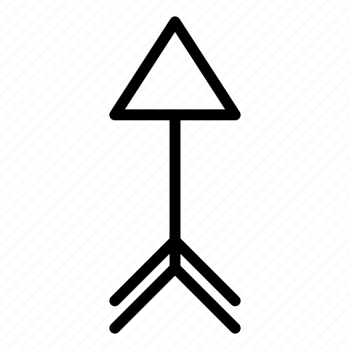 arrow, direction, north, up icon