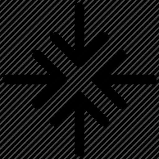 arrow, close, minimize, reduce icon
