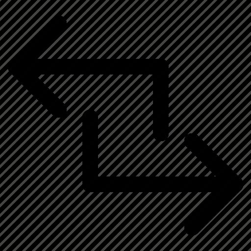 arrow, left, right, square, subtitute, subtitution, to icon