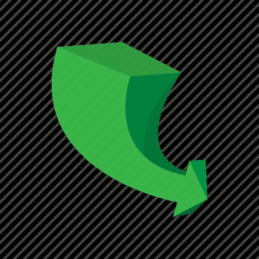 arrow, cartoon, direction, glossy, graphic, shape, sign icon