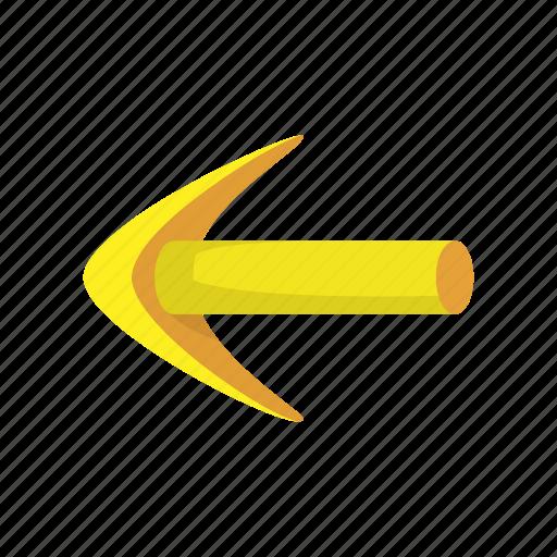aim, arrow, cartoon, leader, leadership, left, pointer icon