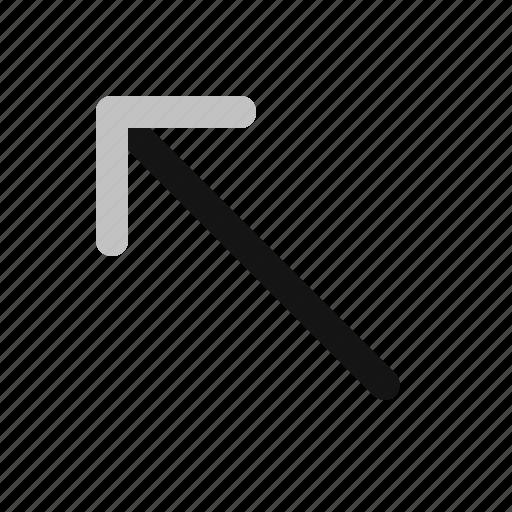 arrow, direction, left, navigation, upper icon