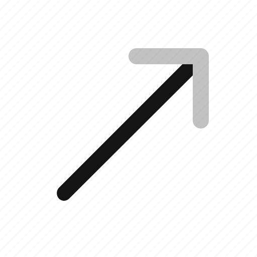 arrow, direction, down, right, upper icon