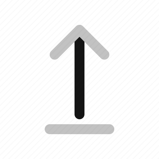 arrow, direction, down, upload icon
