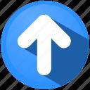 arrow, direction, menu, tip, top, ui icon