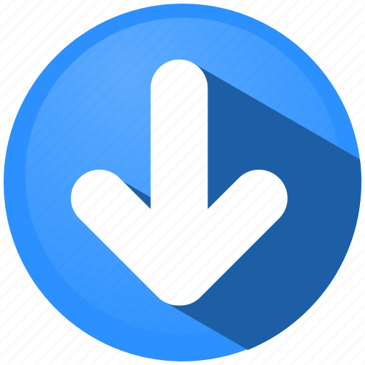 arrow, bottom, direction, down, download, menu, tip icon