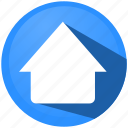 arrow, cloud, direction, menu, navigation, tip, upload icon