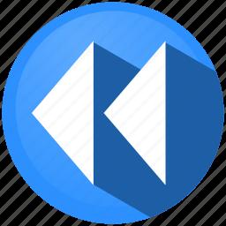 control, menu, pause, preferences, rewind, stop, tool icon