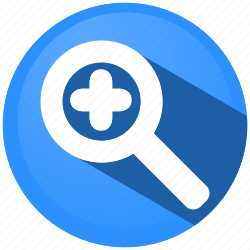 distance, magnifier, map, menu, pointer, view, zoom icon