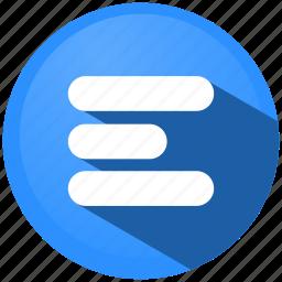 adjustment, document, left, menu, shape, sheet, text icon
