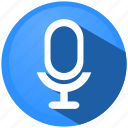 audio, menu, microphone, movie, music, sound, video icon