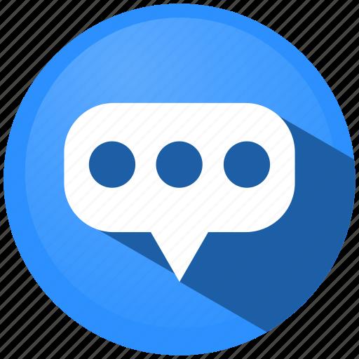 chat, communication, information, mail, menu, message, talk icon
