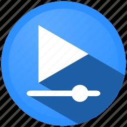 audio, control, menu, movie, music, player, video icon