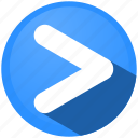 arrow, direction, menu, navigation, next, right, tip icon