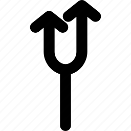 arrow, arrows, creative, direction, fork, grid, move, shape, up icon