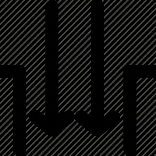 arrow, arrows, creative, direction, down, gap, grid, inside, insidegap, move, shape icon