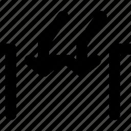 arrow, arrows, creative, direction, down, gap, grid, inside, move, shape icon