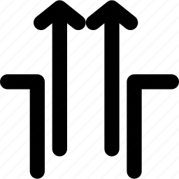 arrow, arrows, creative, direction, gap, grid, move, outside, outsidegap, shape, up icon