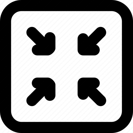 arrow, arrows, creative, decrease, direction, grid, minimize, move, reduce, shape, small icon