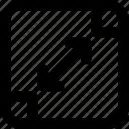 arrow, arrows, creative, grid, left, move, resize, right, scale, shape icon