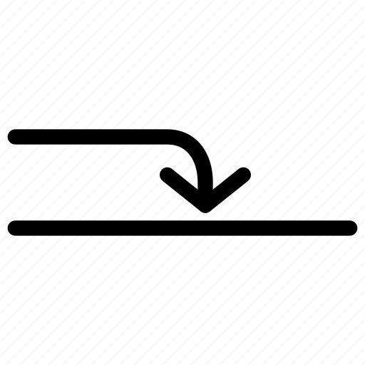 arrow, arrows, creative, direction, down, grid, into, line, move, shape icon