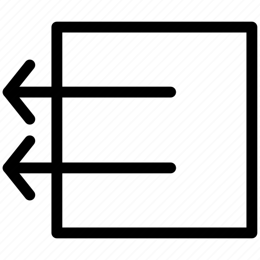 arrow, arrows, box, creative, direction, grid, left, line, move, outside, shape icon