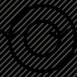 arrow, arrows, circle, circular, creative, direction, double, double-circle, grid, line, move, shape icon