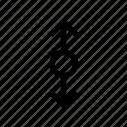 arrow, arrows, circle, connect, down, up icon